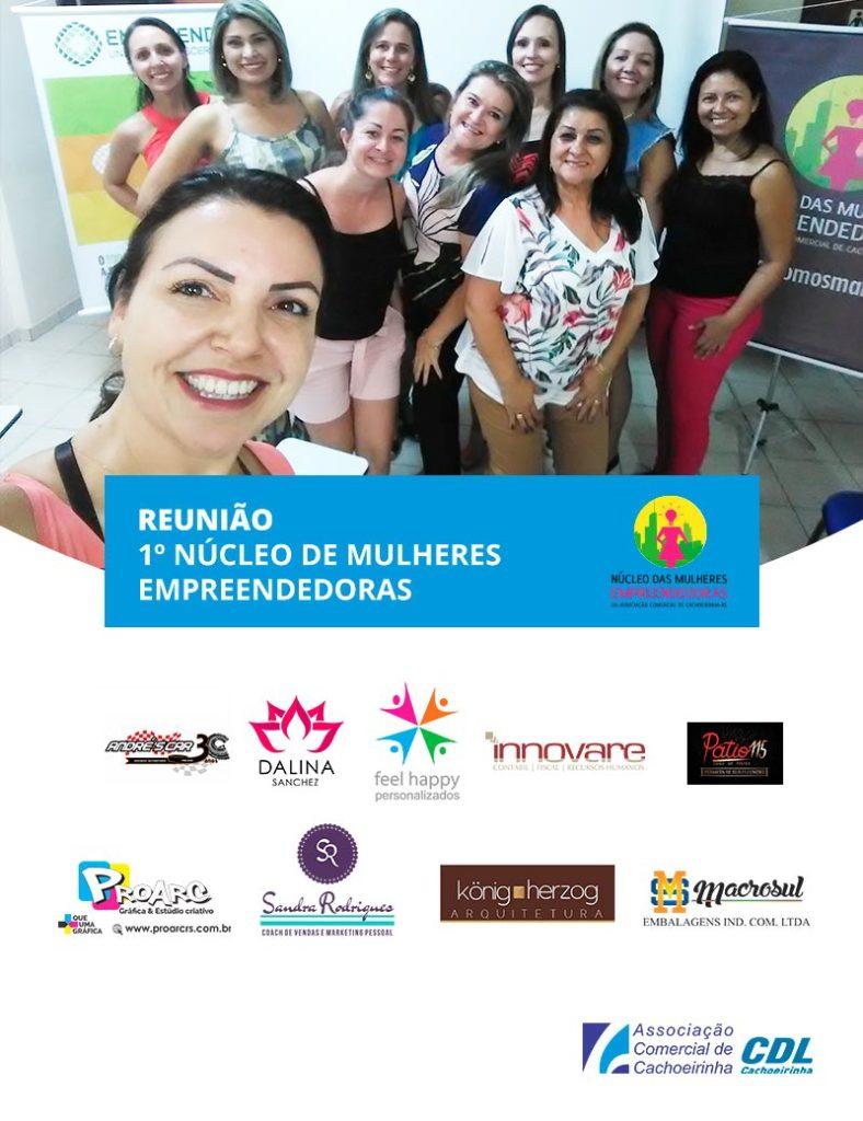 Registro que fiz da reunião do 1º Núcleo de Mulheres Empreendedoras da ACC em 20/02/2019